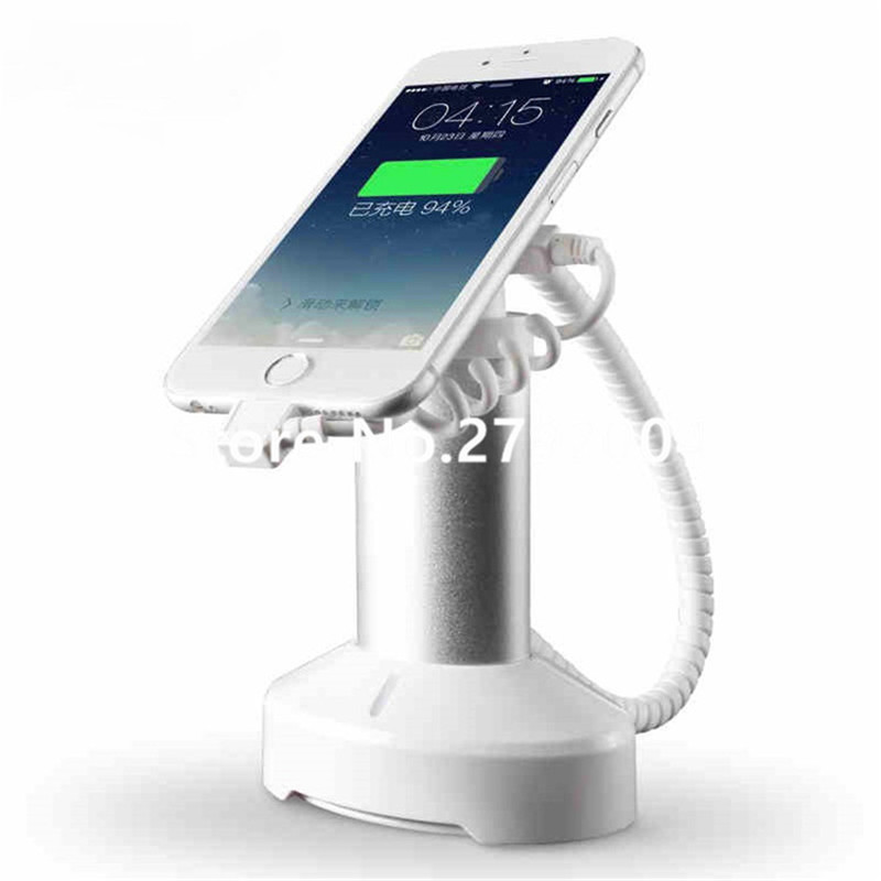 10X cell <font><b>phone</b></font> security anti-theft display <font><b>stand</b></font> with <font><b>alarm</b></font> and charging function for mobile <font><b>phone</b></font> retail store exhibition