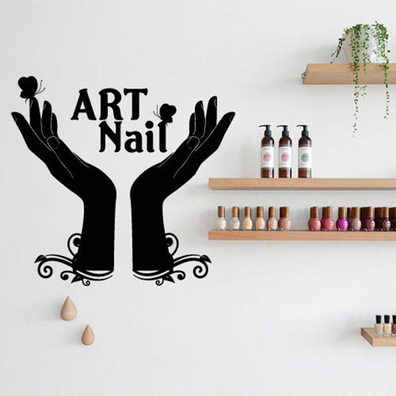 nail bar salon sticker girl spa decal massage beauty posters vinyl wall decals decor mural nail salon sticker