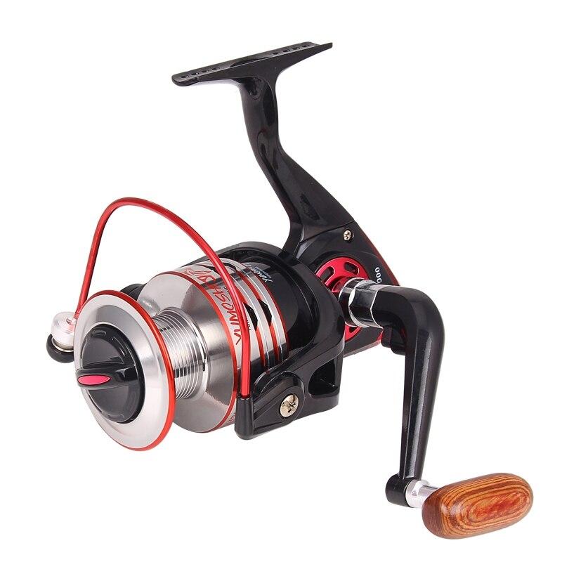 Hot Wheels Fisch Spinning Reel 5,2: 1 10 + 1 Kugellager carretilhas de pescaria molinete 1000-7000 serie Angeln Reel XQ-09
