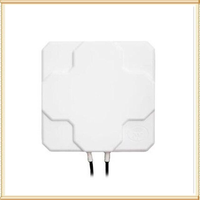 20 pièces extérieur 4G LTE antenne MIMO 2 * 22dBi LTE double panneau de polarisation antenne connecteur Sma-male (blanc ou noir) 5 M câble
