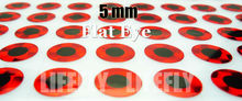 5mm, Red Color / Wholesale 1400 Flat  Eyes, Fly Tying, Jig Tying, Lure Making, Spinner Baits, 3/16″