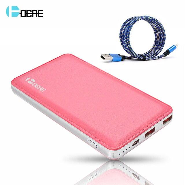 DCAE Ultra Slim Portable Power Bank 12000 мАч bateria externa Powerbank Внешнее Зарядное Устройство Резервного Питания для всех Телефонов