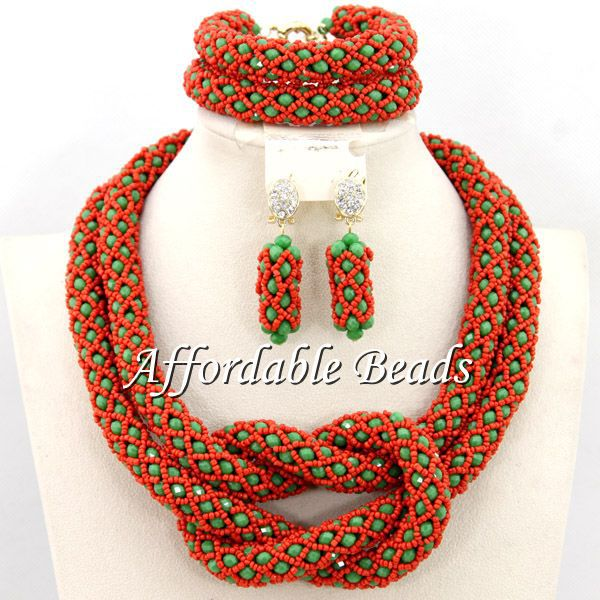 Fashion Bridal Indian Jewelry Set Pretty African Fashion Jewelry Sets New Arrival Free Shipping BN215
