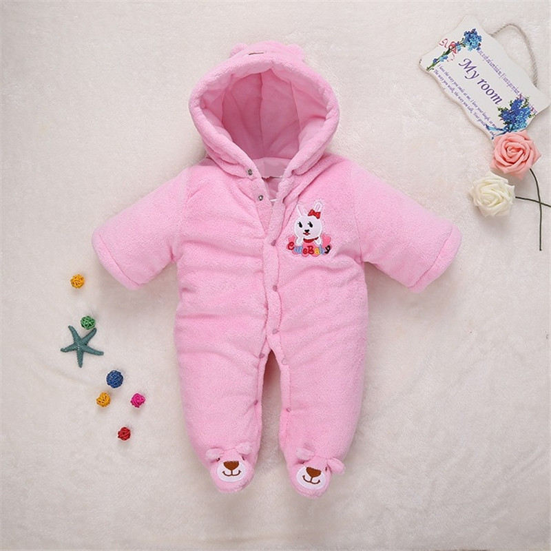 Autumn Winter Baby Rompers Bear rabbit baby coral fleece brand Hoodies Jumpsuit baby girls boys romper newborn toddle clothing baby hoodies newborn rompers boys clothes for autumn hooded romper cotton jumpsuit child kids costumes girls clothing