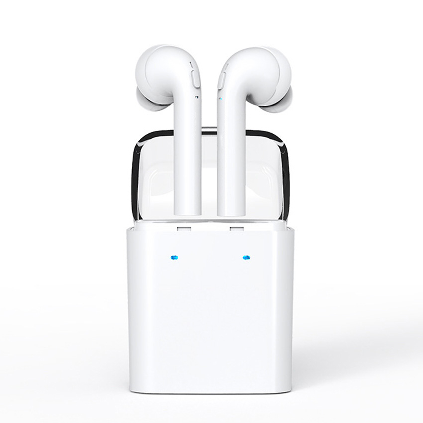 New TWS Double Wireless Bluetooth Earbuds for iPhone 7 plus iphone 6 samsung Headset Double Twins 2 Earphones For Android IOS new mini binaural earphone wireless bluetooth headset for iphone 7 6s 6 plus samsung huawei xiaomi smartphone