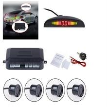 Car Auto Parking Sensor LED Monitor Display 22mm Reverse Backup Radar System Buzzing Sound Warning with 4 Parking Sensors