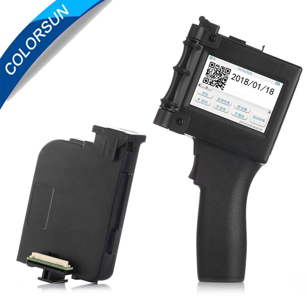 Tela sensível ao toque de 600 DPI Handheld QR Inteligente USB 360 T de Impressora Jato de tinta Codificador Data máquina de Codificação de Tinta + tinta eco solvente cartucho de tinta