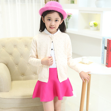 Cardigan For Girls Cotton Casual Children Clothing For Girls Solid Girls Sweaters Autumn Spring Kids Clothes Baby Girls Clothes