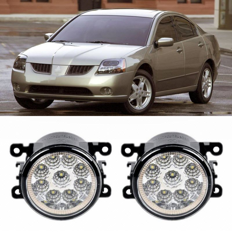 Car Styling For Mitsubishi Galant 2006-2012 9-Pieces Leds Chips LED Fog Light Lamp H11 H8 12V 55W Halogen Fog Lights car styling for dacia renault sandero 2010 2016 9 pieces leds chips led fog light lamp h11 h8 12v 55w halogen fog lights