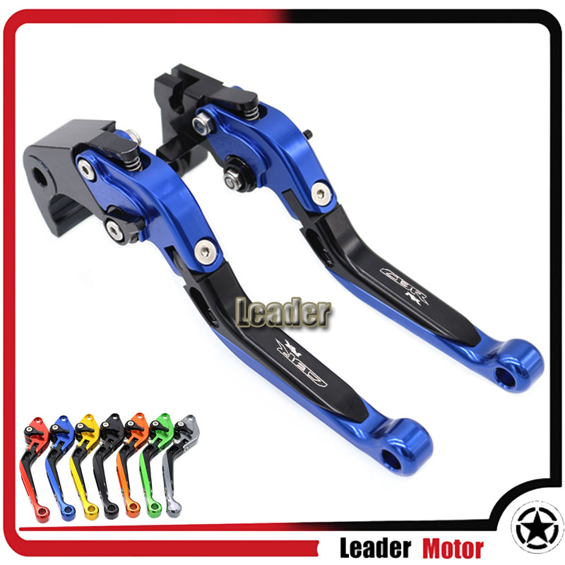 ФОТО For HONDA CBR600RR 2007-2016 CBR1000RR/FIREBLADE/SP 2008-2016 Motorcycle Accessories Folding Extendable Brake Clutch Levers Blue