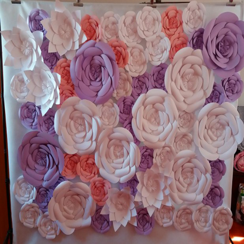 61pcs set giant paper flowers wedding backdrop paper flower 61pcs set giant paper flowers wedding backdrop paper flower backdrop wedding decoration windows display photo booth in artificial dried flowers from home junglespirit Choice Image