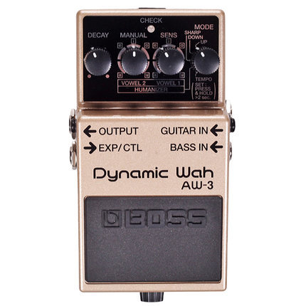 Boss Audio AW-3 Dynamic Wah Pedal for Guitar or Bass with Tempo Control, Expression Pedal Input, and