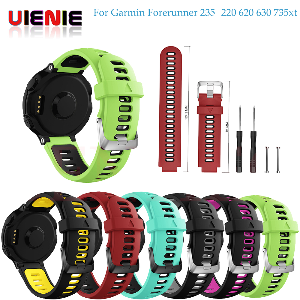 New Arrival For Garmin Forerunner 735XT Wristband Wrist Strap For Garmin Forerunner 230 235 220 620 630 735XT Smart Watch Band