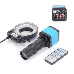 HAYEAR 14MP HDMI цифровой прибор видения промышленная камера микроскопа CCD 100X C-Mount Zoom объектив 56LED светильник для пайки печатных плат