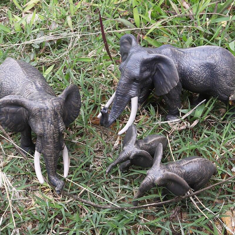 1 Stücke 4,5*2*3,5 Cm Afrikanischer Elefant Tier Kunststoff Modell Vivid Geburtstag Geschenk Kinder Lieblings Frühen Bildung Spielzeug