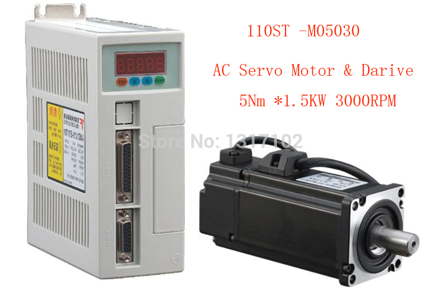 1 set 110ST-M05030 AC SERVO MOTOR 5.0N.M 1.5KW WITH DRIVER AND CABLE настольная лампа odeon light gap 2100 1t