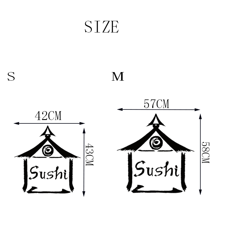 Stizzy Wall Decal Japanese Food Sushi Bar Vinyl Wall Stickers