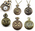 10 pcs LOT Small POCKET WATCH Vintage FANCY and FUNNY Retro STEAMPUNK BRAND dress watch WHOLESALE women