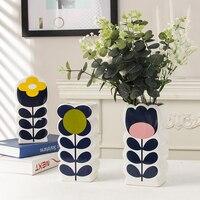 Flower Vase Colorful UK Style Big Spot Rose Dual Grip Jardiniere Multi Coloured Flower Arrangement Bottle Vase for Desk Decor