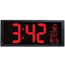Large Screen Big Electronic Wall Clock Desktop Led Digital Calendar Clock Thermometer Daylight Saving For Kitchen Clock Mural цена и фото