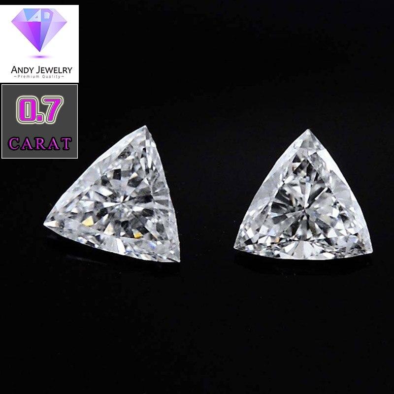1 pièce 6*6mm Triangle Cut Blanc Moissanite Pierre Moissanite lâche Diamant 0.70 catart Moissanite