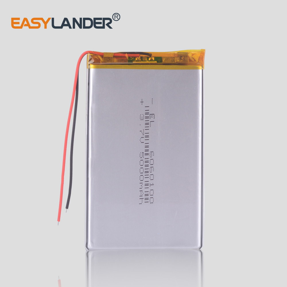 Li Po Li-ion <font><b>Batteries</b></font> Lithium Polymer <font><b>Battery</b></font> <font><b>3</b></font> <font><b>7</b></font> <font><b>V</b></font> Lipo Li Ion Rechargeable Lithium-ion 6060100 5000mAh Bateria Replace image
