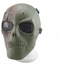 Emirates M01 skeleton Paintball BB Gun Full Face Protect Shot Helmets Foam padded