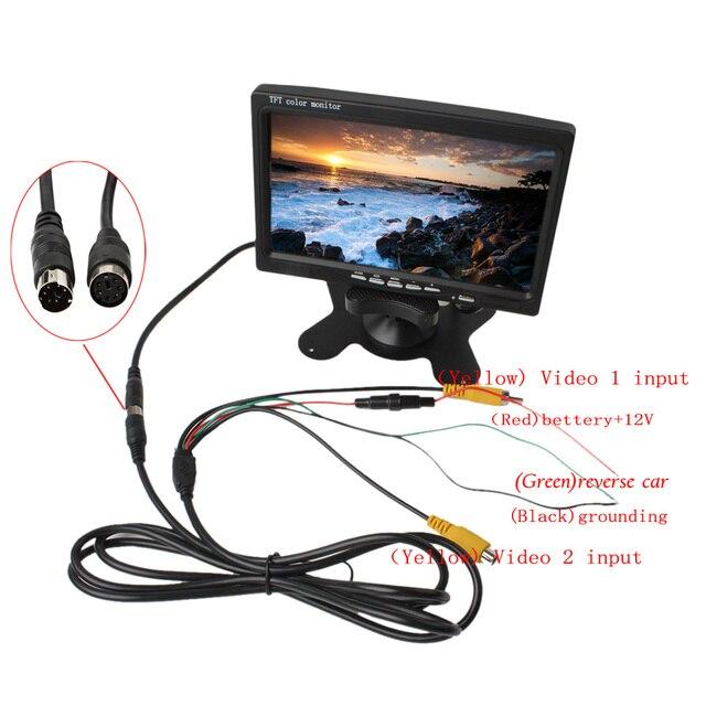 Aliexpress Com   Buy 7 U0026 39  U0026 39  2ch Hd 800 480 Tft Lcd Color Screen Car Rear View Camera Monitor For