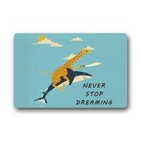 Charmhome الزرافة ركوب القرش أبدا إيقاف يحلم ممسحة عدم الانزلاق باب حصيرة مدخل باب حصيرة البساط الطابق داخلي