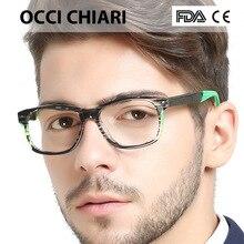 OCCI CHIARI, итальянский дизайн, спортивный стиль, мужские, по рецепту, ботаник, линзы, медицинские, оптические очки, модные очки, подарок, зеленый, синий, W-COICO
