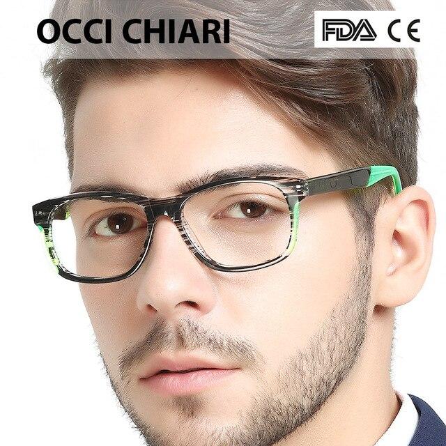 OCCI CHIARI Itália Design Sport Style Mens Prescrição Lerdo Lente Óptico  Médica Óculos Moda Eyewear Presente be537784af