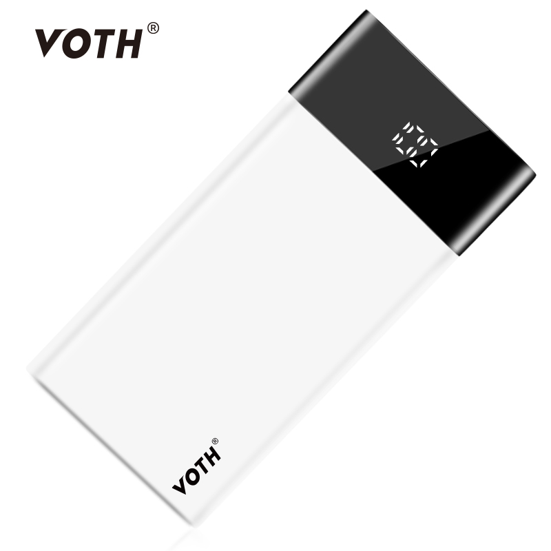Voth 20000 mAh Power Bank PD2.0 LCD Quick Charge 3.0 Two way quick charge 3 USB Power Bank External Battery for Macbook Laptop