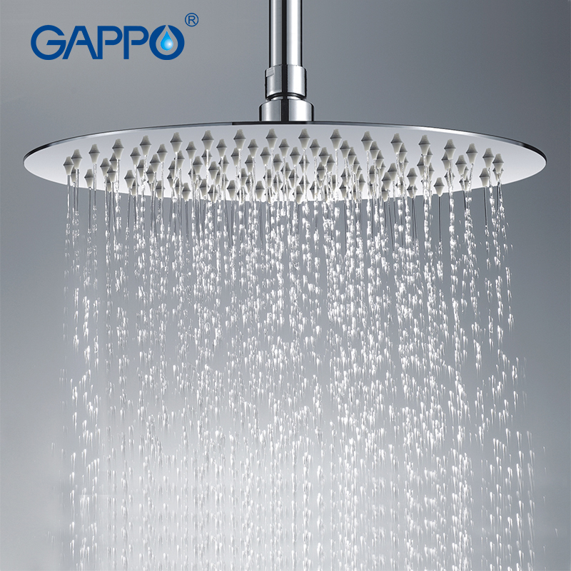 Gappo 300 300mm High Qua Large Round thin 304 Stainless Steel Shower head Rainfall Shower Faucet