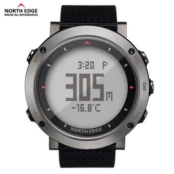 59445d2601dd En el borde norte de los hombres del reloj del deporte altímetro termómetro  barómetro brújula podómetro de calorías de Nylon relojes digitales  corriendo ...