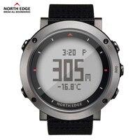 NORTH EDGE Men Sport Watch Altimeter Thermometer Barometer Compass Pedometer Calorie Nylon Watches Digital Running Climbing Hour
