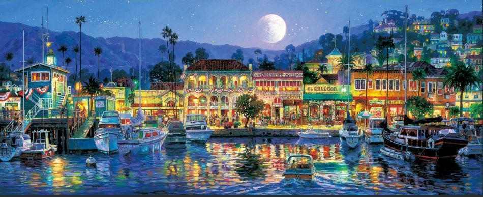European Town Seaside Scenery Cross Stitch Kits Crafts 14CT Unprinted Embroidered Handmade Art DMC Oil Painting
