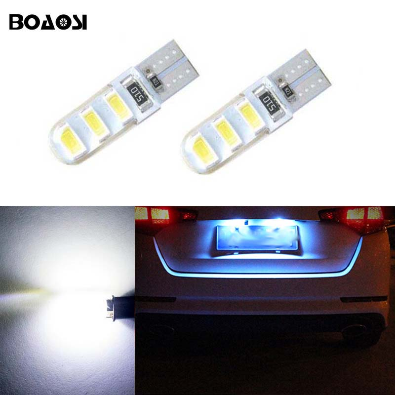 Boaosi 2x Led T10 Canbus Bulbs Interior Lights License Plate Light For Toyota Corolla Avensis Yaris Rav4 Auris Hilux Prius Camry In Car Embly From