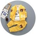 Conjuntos de roupas de bebê roupas de algodão crianças movimento de urso / camisa + calças