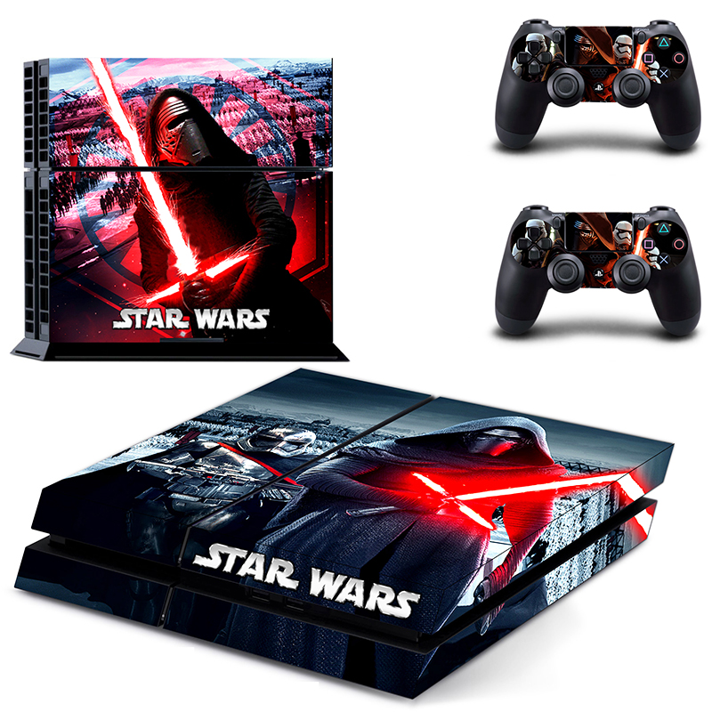 ps4 skin sticker star wars for sony ps4 console+2 controller skin