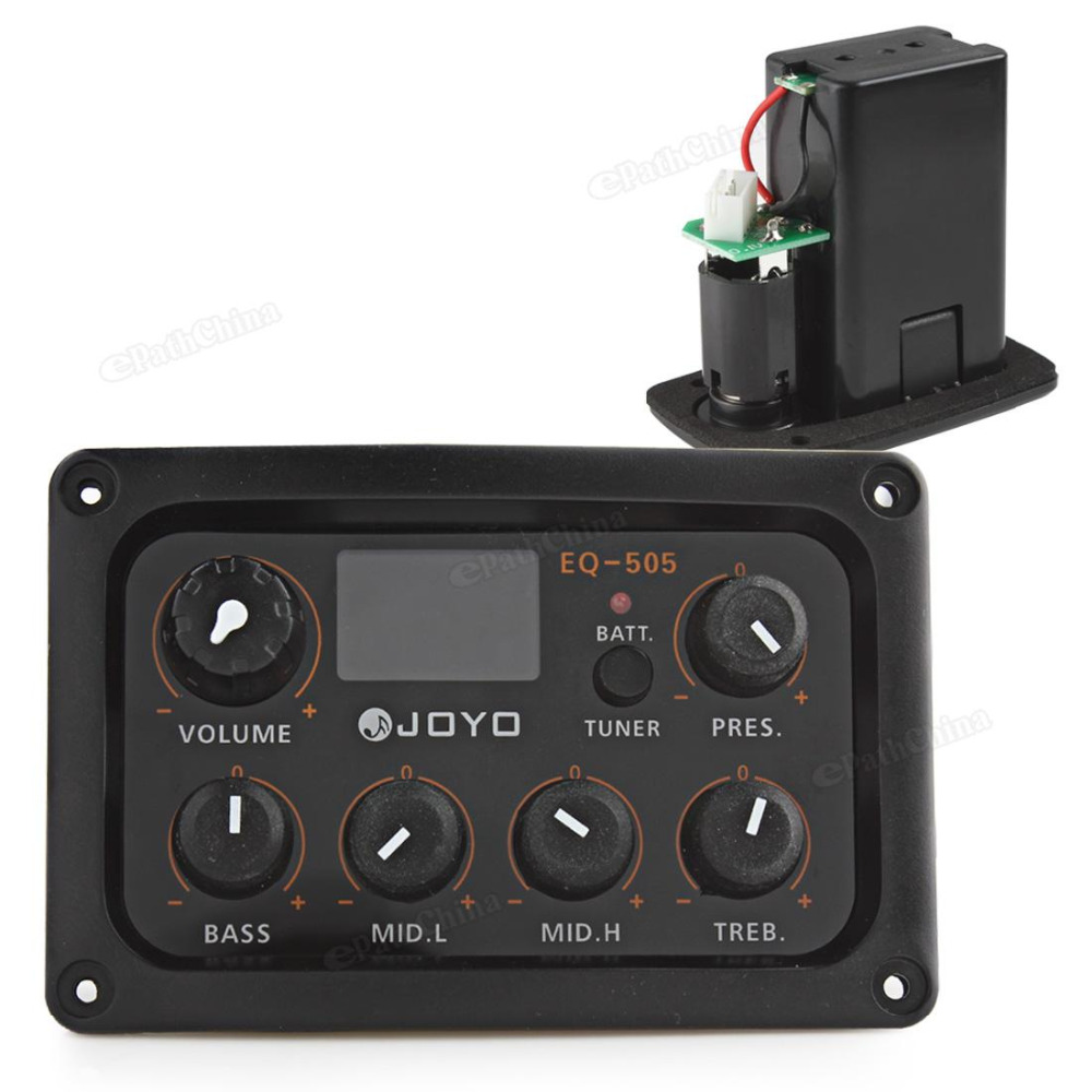 JOYO EQ-505 Digital 5 Band EQ Guitar Pickup Preamp & Tuner LCD Display Professional Musical Instrument Parts Accessories joyo eq 307 folk guitarra 5 band eq acoutsic guitar equalizer high sensibility presence adjustable with phase effect and tuner