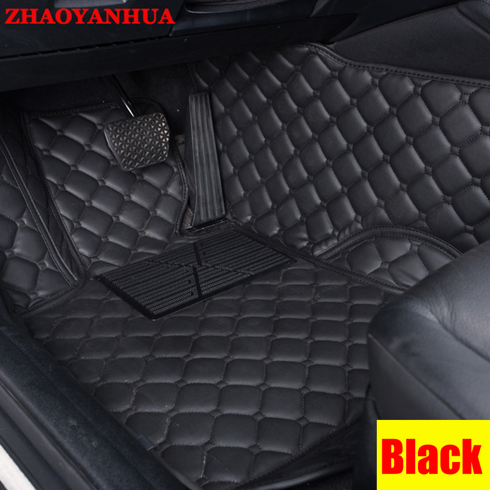 Zhaoyanhua car floor mats for honda city 4th 5th 6th generation 6d all weather car styling carpet rugs floor liners 2003 now