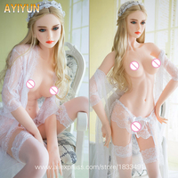 AYIYUN Silicone Japanese Sex Doll for Men with Metal Skeleton Oral Anal Vagina Big Breast Full Sex Sexy Love Doll Adult Toys