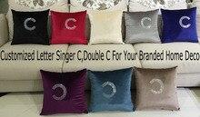 Padrão de Diamante de Cristal por atacado F Tecido de Veludo Almofada Travesseiro Decoração Lance Decorativa Pillow Cojines Almofada Coussin Vert