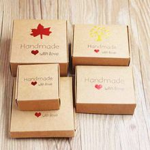 20pcs/lot DIY Handmade with love Wedding Candy Box Romantic Kraft Gift box multi size paper gift packing and heart display box(China)