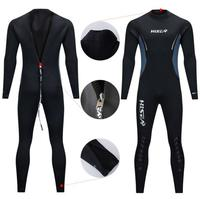 5mm diving suit nerriga male Siamese winter cashmere thermal deep professional long sleeved pants wetsuit blind stitch