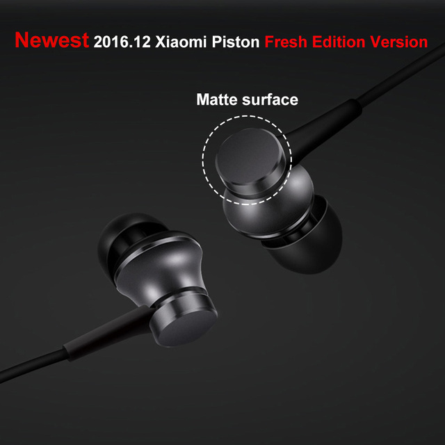 2016 Newest 100% original Xiaomi Mi Earphones Piston 3 Fresh Version In-Ear with Mic Wire Control for mobile phone
