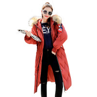 Winter Female Long Jacket Plus Size Parka Coat Women Fake Fur Collar Warm Woman Parka Outerwear Down Jacket Winter Women C80605