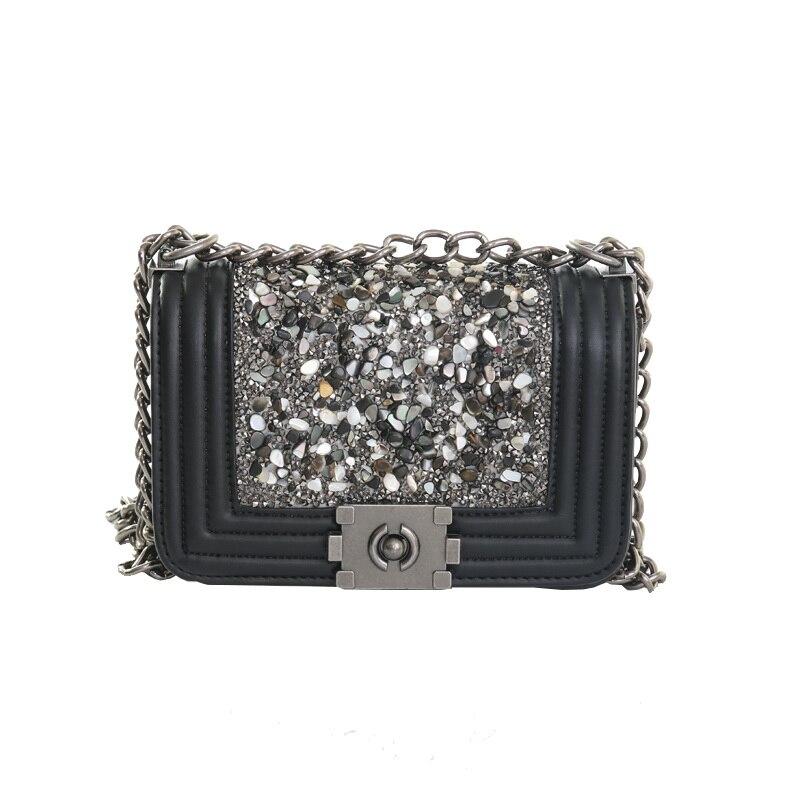 Enrejado de diamante de Lujo Mujeres de Los Bolsos Diseñador Señora Acolchado Pl