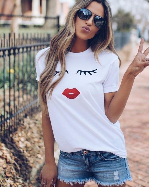 Plus Size Summer VOGUE Printed FemaleT-shirt