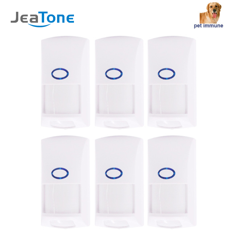 JeaTone 433Mhz PIR sensor infrared anti pet immune wireless motion alarm sensor for GSM WIFI home security system alarm kit